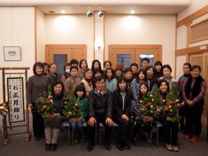 「お正月飾り」で記念撮影